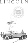 Click here to enlarge image and see more about item jan1989: 1926 Lincoln  Sport Phaeton Ad