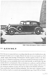 1934 Lincoln Two Window Town Sedan Ad