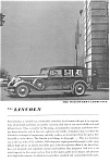 Click here to enlarge image and see more about item jan1994: 1935 Lincoln Willoughby Limousine Ad