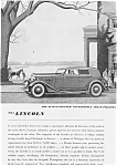 Click here to enlarge image and see more about item jan1995: 1935 Lincoln Convertible Sedan Ad jan1995