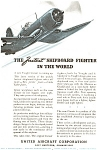 United Aircraft Corsair  WWII  Fighter Ad