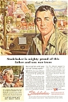 Studebaker Father Son WWII  Ad jan2098