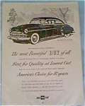 Click here to enlarge image and see more about item jan222: 1949 Chevrolet, Ad.