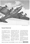 Click here to enlarge image and see more about item jan2483: Boeing WWII Stratoliner Ad jan2483
