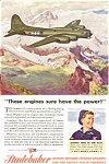Studebaker B 17 Engine WWII  Ad jan2485