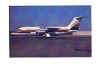 American BAE-146 AirCal Colors Postcard jan2558a