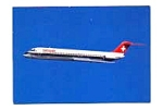 Swissair DC-9-51 Postcard jan2653