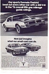 Click here to enlarge image and see more about item jan4764: 1976 Pontiac Formula Firebird Ad