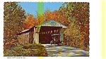Click here to enlarge image and see more about item jul3204: Adams Mill IN Covered Bridge Postcard jul3204