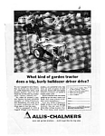 Click here to enlarge image and see more about item jun1832: Allis Chalmers Garden Tractor Ad jun1832