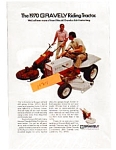 Click here to enlarge image and see more about item jun1836: 1970 Gravely Riding Tractor Ad jun1836