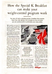 Click here to enlarge image and see more about item jun2149: Kellogg's Special K Ad Apr 1962