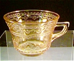 Depression Glass Patrician Spoke Cup in Amber