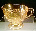 Sharon Cabage Rose Creamer in Amber ca.(1935-1939)