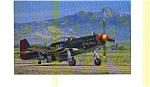 Click here to enlarge image and see more about item jun3223: P-51-D Fighter Postcard