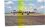 Click here to enlarge image and see more about item jun3264: Wrangler Aviation CL-44 Airline Postcard
