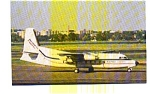 Click here to enlarge image and see more about item jun3268: Business Express F-27   Airline Postcard