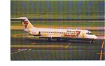 Midway Metrolink DC-9 Airline Postcard jun3277