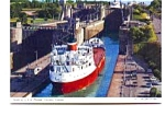 Click here to enlarge image and see more about item jun3326: Thorold Ontario Canada  Lock 4  5  6 Postcard jun3326
