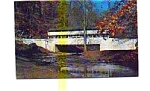 Covered Bridge Valley Forge PA Postcard jun3333a
