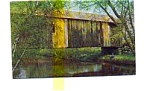 Covered Bridge Swanzey NH Postcard jun3334a