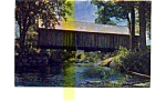 Click here to enlarge image and see more about item jun3335b: Turkey Jim s Covered Bridge  NH Postcard jun3335b