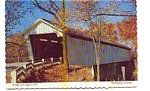 Click here to enlarge image and see more about item jun3338x: Covered Bridge  Darlington IN Postcard jun3338x