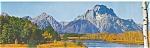 Jackson Hole,WY, Mt Moran Postcard