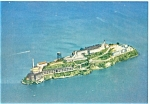 Click here to enlarge image and see more about item lp0004: San Francisco CA Aerial View of Alcatraz Postcard lp0004