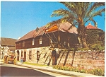 St Augustine FL Oldest House in USA Postcard lp0048