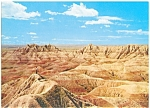 Click here to enlarge image and see more about item lp0052: Badlands of South Dakota Postcard lp0052