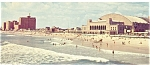 Click here to enlarge image and see more about item lp0080: Atlantic City NJ Convention Hall Beach Postcard lp0080 1970