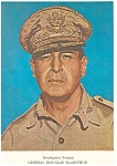 Click here to enlarge image and see more about item lp0106: Needlework Portrait of General MacArthur Postcard lp0106