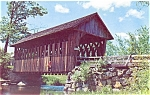 Covered Bridge over Blackwater River NH Postcard lp0134
