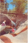 The Basin Franconia Notch NH Postcard lp0135