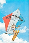 Click here to enlarge image and see more about item lp0138: Flying Kite Men,Florida's Cypress Gardens Postcard