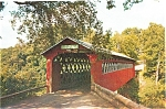East Arlington, VT, Old Chiselville Bridge Postcard