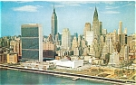 Click here to enlarge image and see more about item lp0156: United Nations Midtown NY Postcard