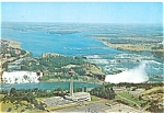Aerial View of Niagara Falls Postcard lp0161