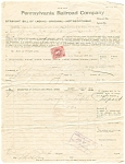 Click here to enlarge image and see more about item lp0173: Pennsylvania Railroad Bill of Lading 1916