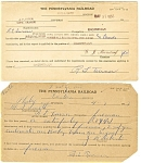 Pennsylvania Railroad Employee Examination Forms Lot of 4 lp0174