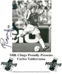 Click here to enlarge image and see more about item lp0188: Carlos Valderrama Milk Chugs Photo/Ad