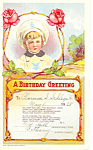 A Birthday Greeting Card Dated 1928
