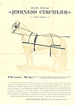 Click to view larger image of Horse Harness Circular Advertisement 1892 (Image1)