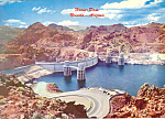 Click here to enlarge image and see more about item lp0235: Hoover (Boulder) Dam from Arizona Side Postcard