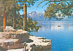 Click here to enlarge image and see more about item lp0236: Mt Tallac, Lake Tahoe Nevada Postcard 1958