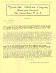 Patent Medicine IRS Ruling of 1908 Letter lp0261