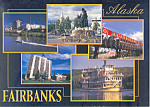Click here to enlarge image and see more about item lp0279: Fairbanks, Alaska, Multi View Postcard 2003