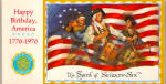 Click here to enlarge image and see more about item lp0495: Happy Birthday America 1776-1976 Souviner Postcards