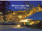 Mirror Lake Inn Resort and Spa at Christmas Large Postcard